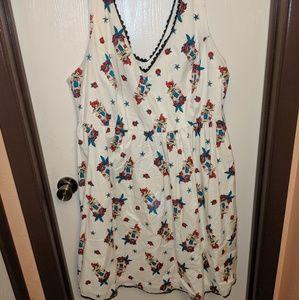 Torrid Disney Pin-Up Ariel Swing Dress Sz24
